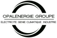 OPALENERGIE est une entreprise spécialisée dans les domaines de l'électricité, plomberie, chauffage, ventilation, climatisation dans le secteur de l'habitat, du tertiaire et de l'industrie. Logo